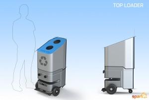 Zelfrijdende prullenbak 20160608-Concept-Top-Loader-Spark